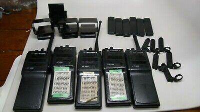 Lot of 5 Motorola HT1000 Handie-Talkie FM Radio w/ Accessories Without -