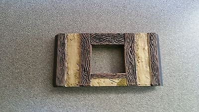 Dwarven Forge Dwarvenite Painted Game Tiles Tudor Wall with window WL-002