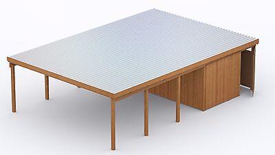 carport 6x9 m kiefer inkl abstellraum ca 581x335 cm. Black Bedroom Furniture Sets. Home Design Ideas