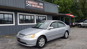 2002 Honda CIVIC ONLY 195K ! CERTIFIED ETESTED ONLY  $2499+taxes