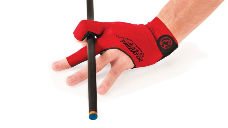 RED PREDATOR GLOVE LARGE / X-LARGE SECOND SKIN POOL CUE GLOVE  - FITS LEFT HAND