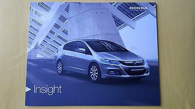 Honda Insight HE HS HX 1.3 HE-T paper brochure sales catalogue January 2014 MINT