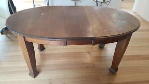 Antique French Polish Dining Table