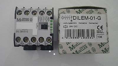 Moeller Leistungs- Schütz DILEM-01-G 24V/DC,4KW HK: 1Ö OVP,DIL EM-01-G 4 KW