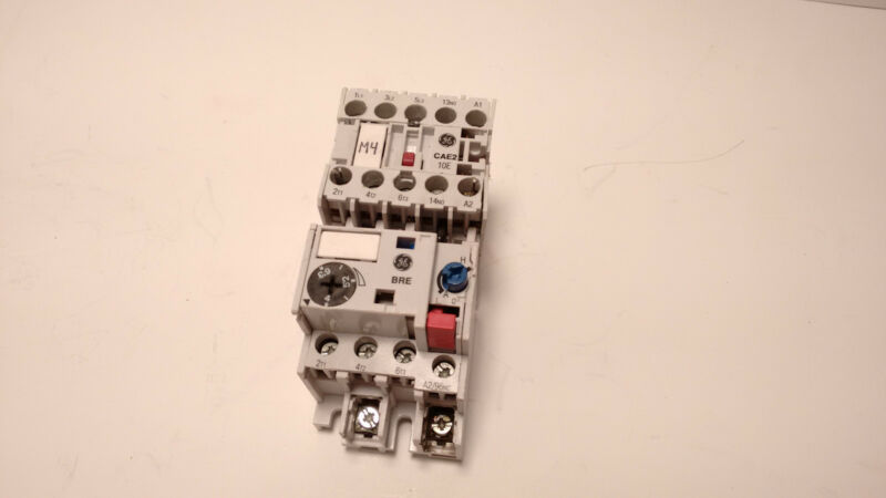 GE General Electric CAE210 Contactor w/ BRE6,3 Relay