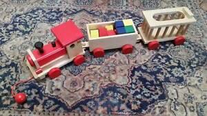 WOODEN TRAIN & BLOCKS