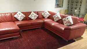 Beautiful Red Leather Sofas East Victoria Park Victoria Park Area Preview