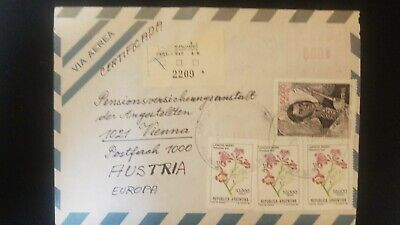 Used, O) 1982 ARGENTINA, GENERAL JOSE DE SAN MARTIN SCT 1376 50000 - FLOWERS, AIRMAIL for sale  Shipping to India