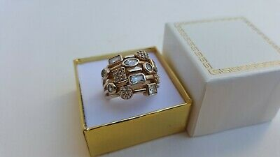 Beautiful Ladies Fine Estate Jewelry HSN Sterling Silver CZ Cluster Ring Sz 9.75