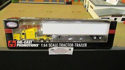 DCP#31828 YELLOW PETE 389 SEMI CAB TRUCK & 53 BLANK REEFER VAN TRAILER 1:64/ (Reefer Van)