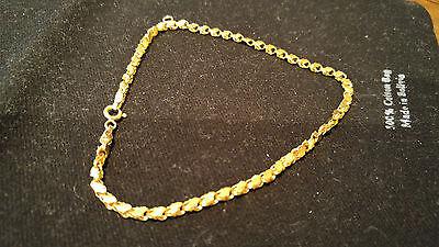"""18K Yellow Gold Uniquely Designed Link Bracelet, 9"""", 4.9g"""