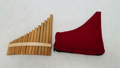 Wooden Panflute Panpipes 10 x11 W/ Case - $27.50