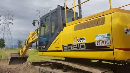 14 & 20T GPS control excavator for hire-bulk, pier drilling