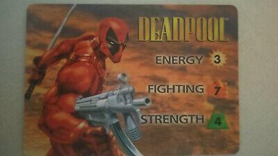 Deadpool Stats (Marvel Overpower 1995 CCG Card Game  Deadpool Hero Card Original 3 Power)