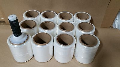 5x1000 Hand Stretch Film Wrap - 12 Rolls Included