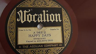 Alder's Trio - 78rpm single 10-inch – Vocalion #14212 Happy Days