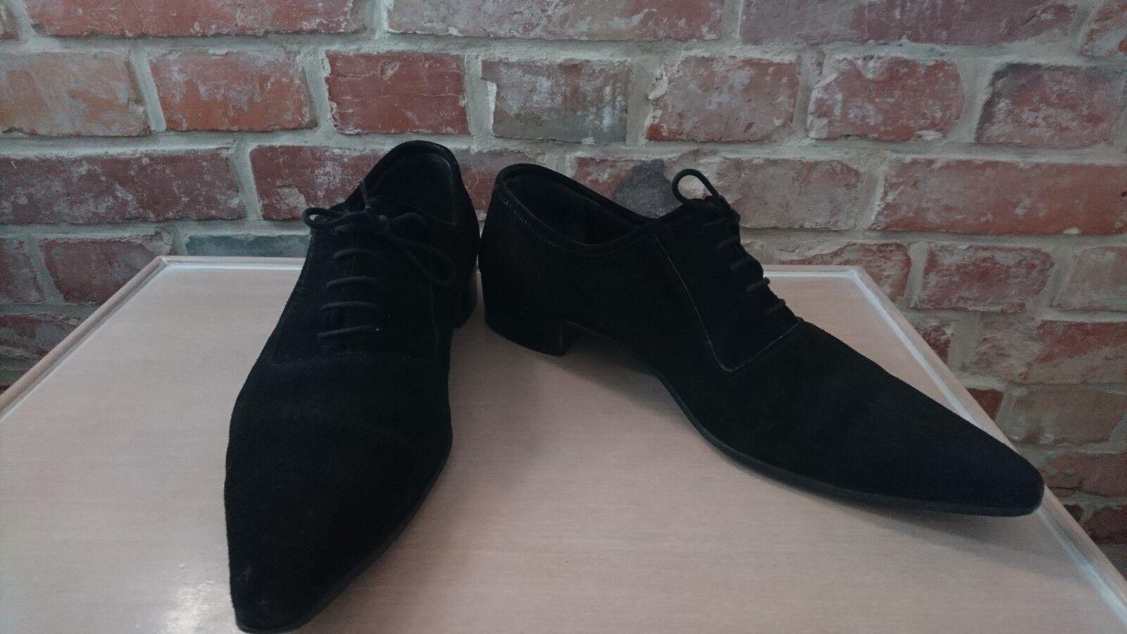 Rockabilly Schuhe 50er Halbschuhe Schnürschuhe 42 Wildleder Leder Tanzschuhe