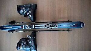 Rossignol skis and Nordica boots