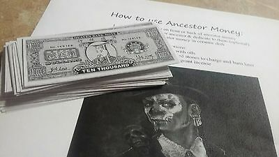Ancestor Money Jade Emperor Heaven Notes 10 pieces With Free Instructions