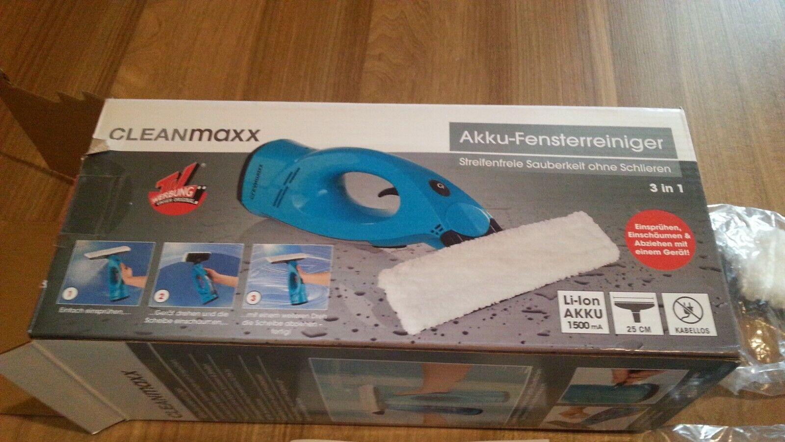 Akku Fensterreiniger 3in1 10W mit Frischwassertank CLEANmaxx