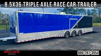 8.5x36 Triple 7k Torsion Axle Enclosed Race Car Trailer Car Hauler