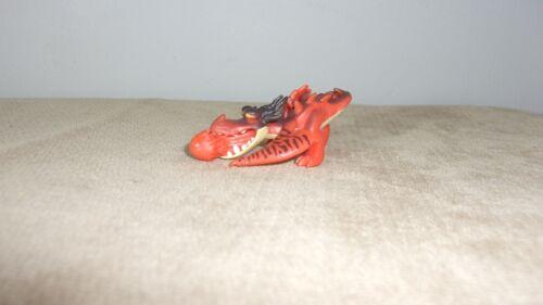 "MINIATURE 1"" X 2"" SOFT PVC RED DRAGON FIGURE (MA196)"