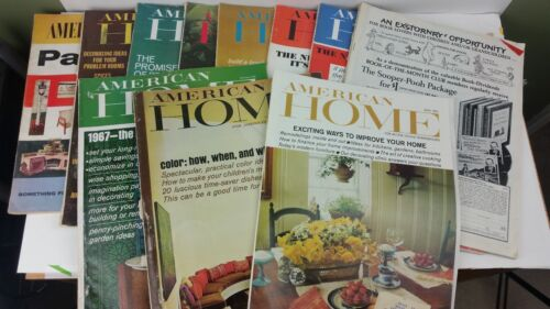 Lot of 11 vintage American Home magazines, 1966 1967 and a Patterns magazine
