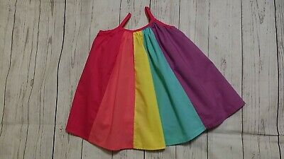 Childrens Place 9-12 Month Girl Rainbow Cotton Sleeveless Sun Summer Dress
