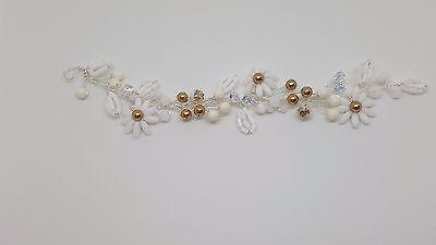 Swarovski Haar (Hochzeit Haarschmuck mit Swarovski Handgefertigt für die Braut Phoebe Helenity)