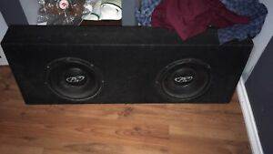 2 12inch subs and 2 amps