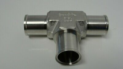 Swagelok 316l Tee 12 Id 34 Od Stainless