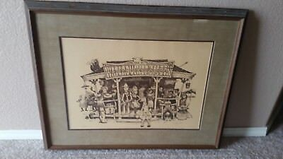 Jeff Fessenden THE WATERBUCKET SALOON Numbered Signed Framed Lithograph Print