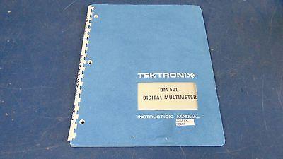 Tektronix Dm 501 Digital Multimeter Instruction Manual-good Condition-s2400x