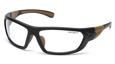 Carhartt Carbondale Safety Glasses Black Frames and Clear Lens CHB210DT ANTI FOG