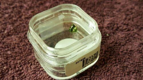 JTV 4.5mm Trillian cut Madagascar Demantoid Garnet VVS clarity 0.36ct