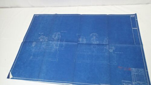 Antique Blueprint Industrial Art Detroit Automotive Ford Motor Co 1941 #10