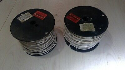 Lot 2- E 34382 Electrical Wire White Please See Pictures Thnn Wire