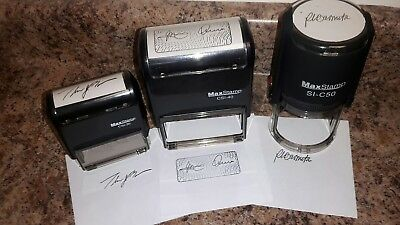 Self Inking Hand Stamp W Custom Signaturedieetchinglogo Included