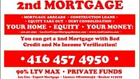 EQUITY LENDING! 2nd/3rd Mortgages for ANY REASON!