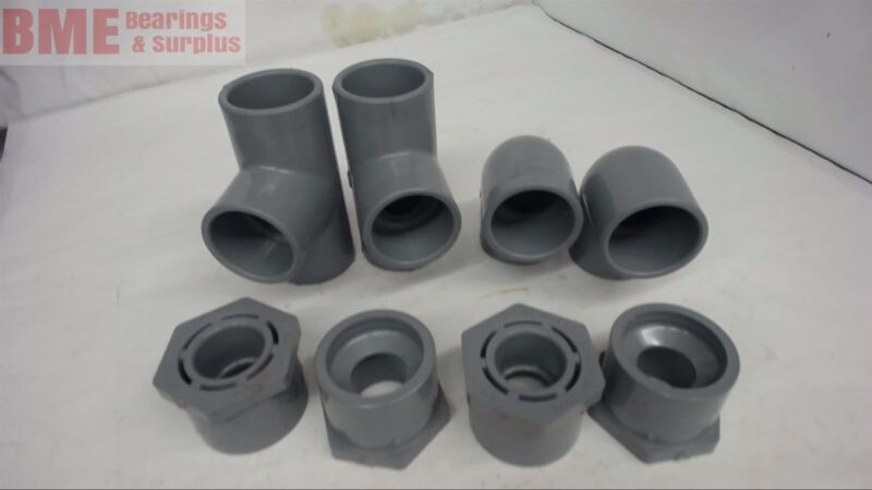 8 PCS -- SPEARS  SCH 80 CPVC COUPLINGS AND ELBOWS