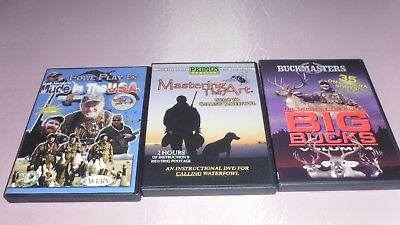 3 Buckmasters Primo Buck Gardner's DVD's - Fowl Deer Hunting  Big Bucks Vol 4