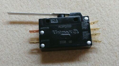(1) Dual SPDT Unimax Snap Action Lever Limit Switch DPDT 15A 125 / 250v ADPDTO