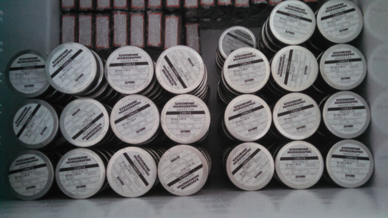 Ilfochrome Color Microfilm - Double Perforated (25 roll lot)
