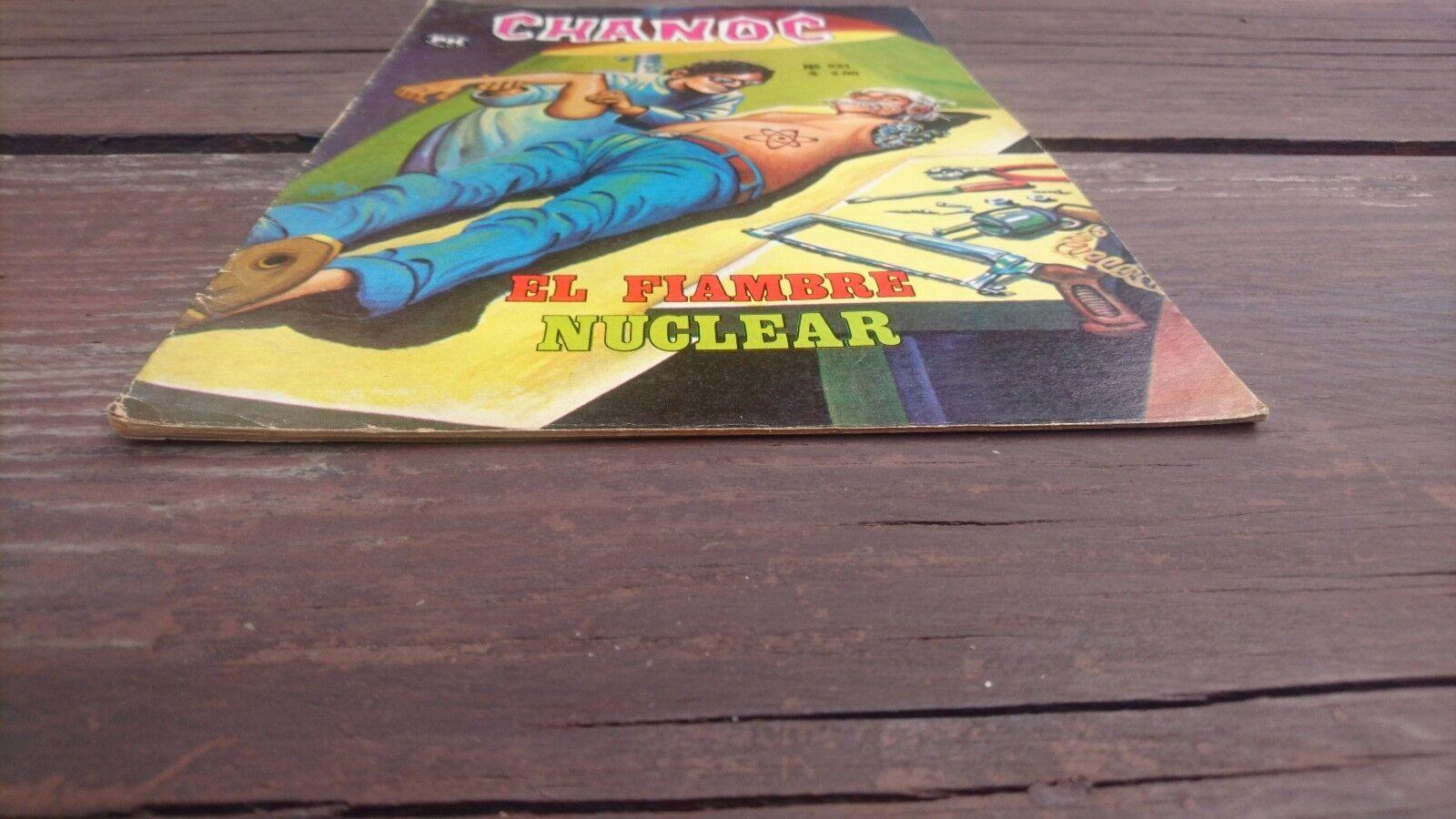 1975 Mexican Comic Chanoc 821 El Fiambre Nuclear Six Million Dollar Man Parody