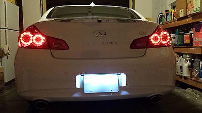 White LED License Plate Lights For Infiniti Q50 Q50S 2014-2017 - Led Infinity