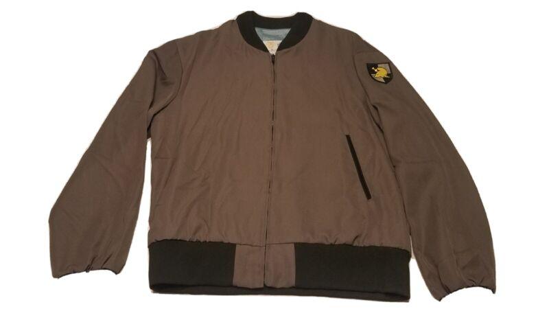 Vintage USMA West Point Cadet Gray Uniform Windbreaker Lightweight 42 L Jacket