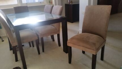 6 seater dining table with chairs PLUS coffee table Campbelltown Campbelltown Area Preview