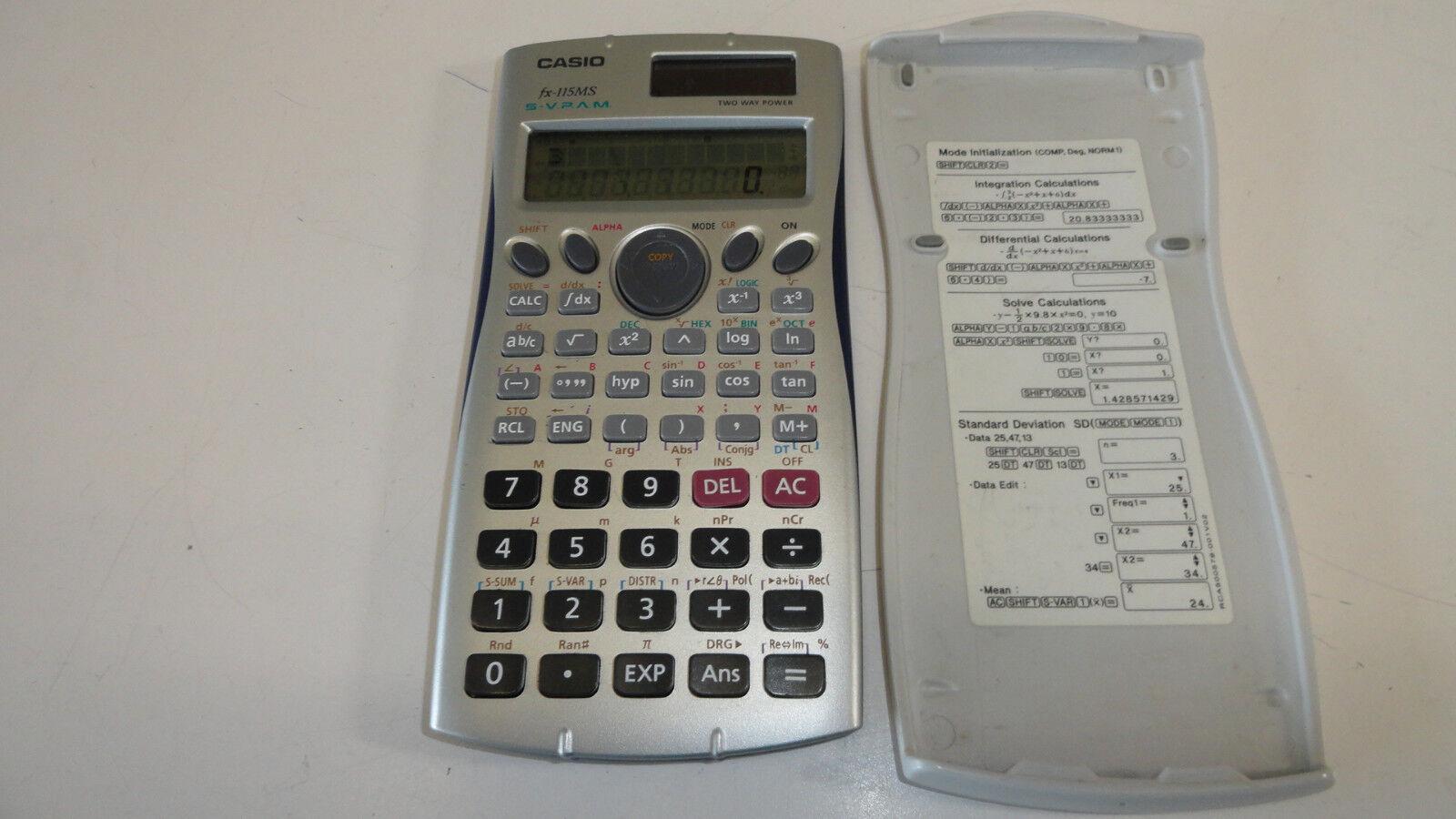 Casio Scientific Calculator fx-250H Fraction Battery Handheld