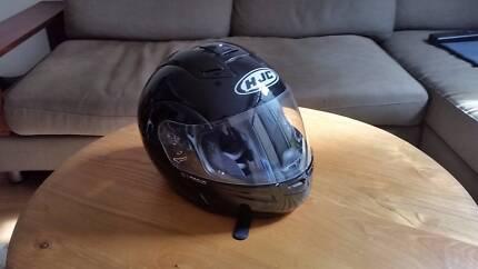 HJC Black Flip Face Motorcycle Helmet - Size M Collingwood Yarra Area Preview