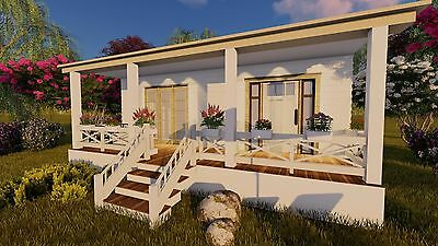 Tiny House  Plans Small One Bedroom Home Cottage Homestead Building Guide